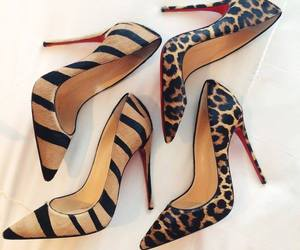 heels, high heels, and leopard image
