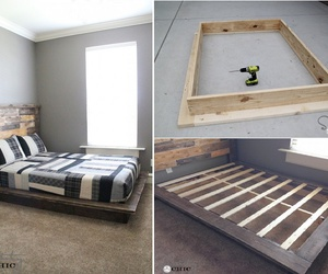 platform bed tutorial and platform bed free plans image