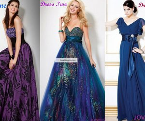 blue, colorful, and dress image