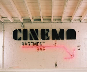 bar, neon, and cinema image