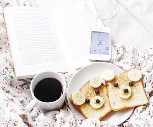 book, coffee, and bananas image