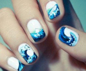 nails, sea, and blue image
