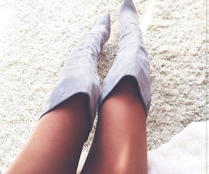 fashion, boots, and grey image