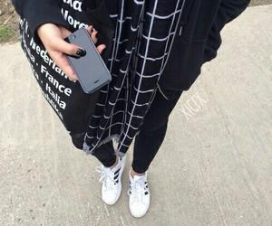 fashion, black, and adidas image