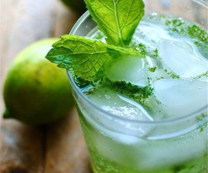 drink, mojito, and mint image
