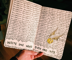 fandom, wreck this journal, and harry potter image