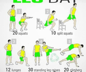 workout, fitness, and leg image
