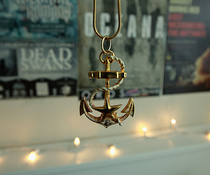 anchor, necklace, and light image