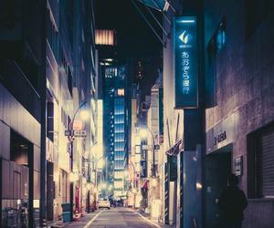 city, japan, and light image