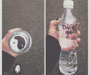 grunge, water, and drink image