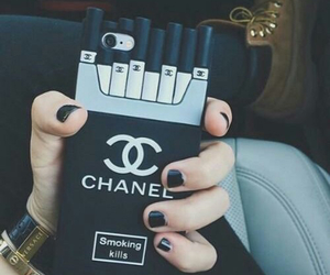 chanel, iphone, and black image