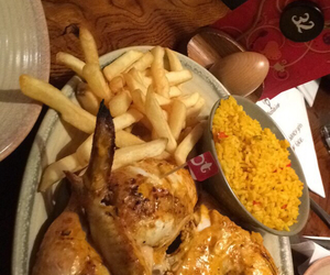 Chicken, chips, and food image