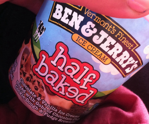 ben and jerrys, ice cream, and half baked image