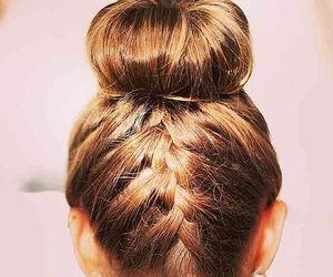 hair, brown, and girl image