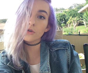 grunge, lilac hair, and indie image