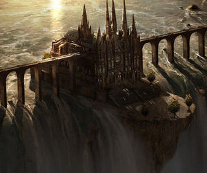 background, castle, and fantasy image