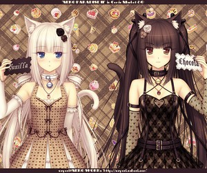 anime, vanilla, and chocolate image