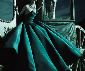 fairytale, green dress, and cinderell image