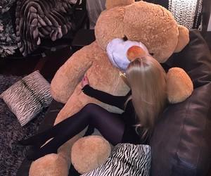 girl, bear, and luxury image
