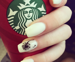 coffee, white, and nails image