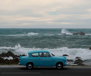 car, sea, and vintage image