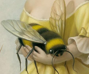 bee, art, and painting image