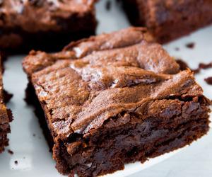 brownie, chocolate, and sweet image