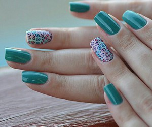 nails, pretty, and green image