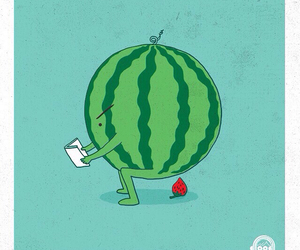 watermelon, strawberry, and funny image