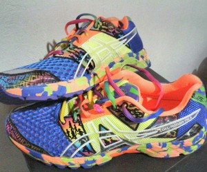 asics, fitness, and running image