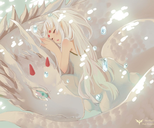 art, drawing, and white hair image