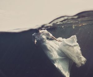 dress, girl, and water image