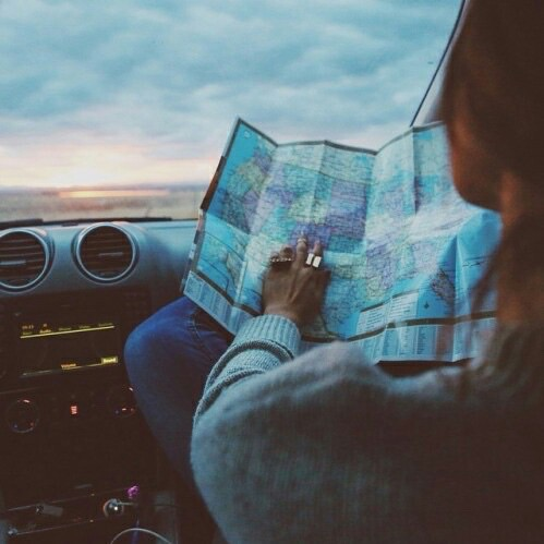 blue, driving, and travel image