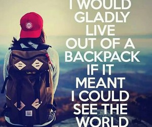 travel, world, and backpack image