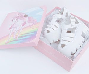 pink, shoes, and unicorn image
