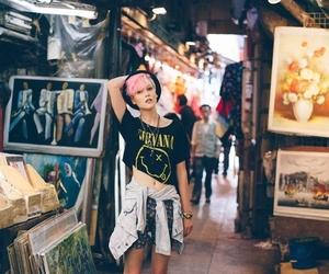 nirvana, girl, and grunge image