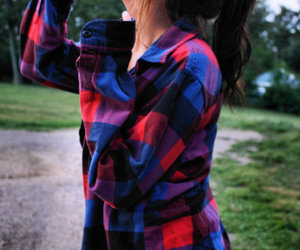 flannel, girl, and cute image