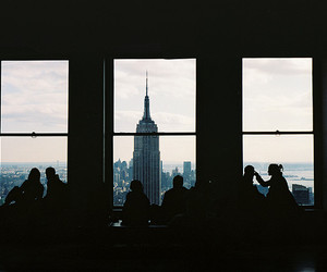 new york, city, and people image