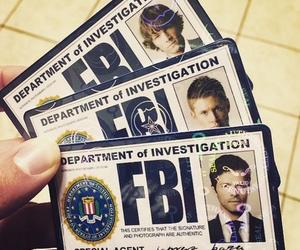 supernatural, castiel, and fbi image