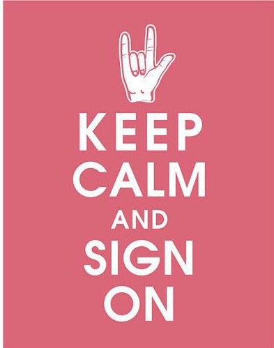 deaf, sign, and language image