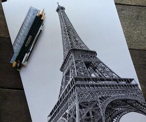 art, paris, and drawing image