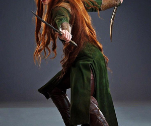 the hobbit, elf, and tauriel image