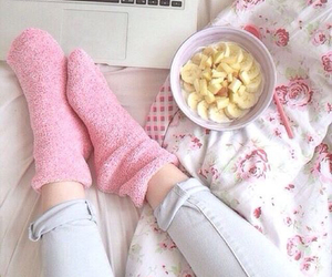 pink, socks, and girly image