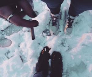 cigarette, smoke, and winter image