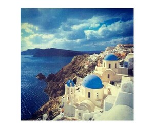 paradise and santorini image