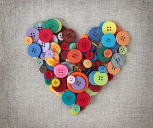 heart, love, and buttons image