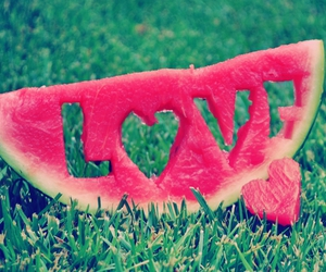 fruit, cute, and heart image