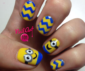 minions, nail art, and nails image