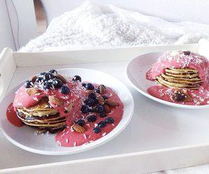 food, pink, and pancake image