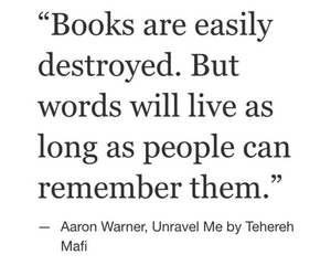 books, words, and quote image